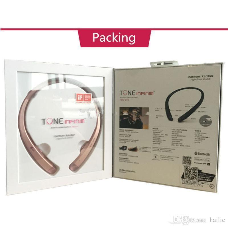 Actualización de la versión HBS910 de TONE INFINIM HBS 910 Auriculares de cuello Bluetooth 4.1 HBS910 Auriculares deportivos con un paquete rígido de venta al por menor