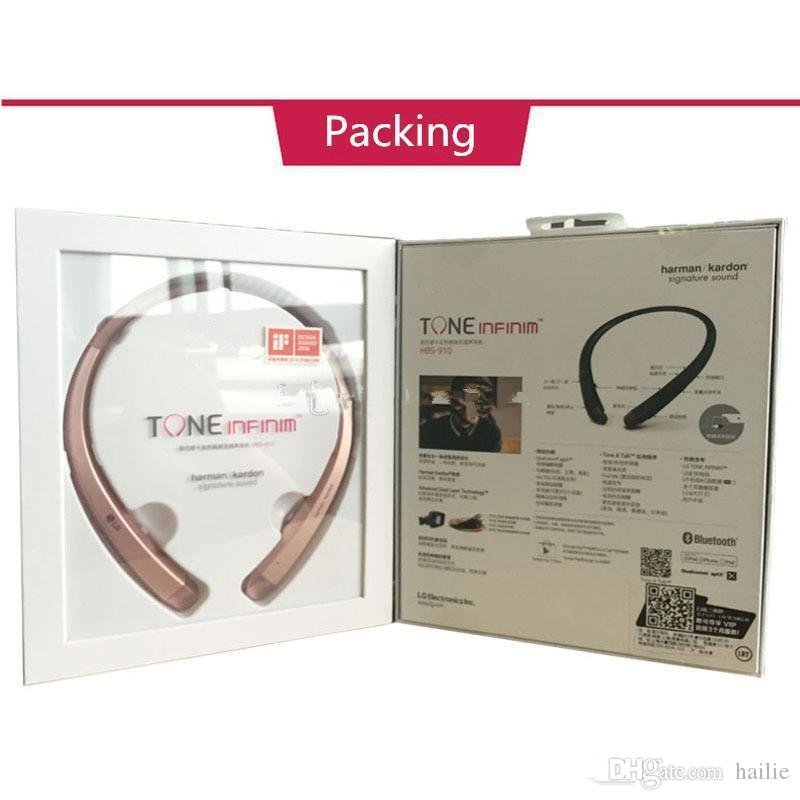 TONE INFINIM HBS910 upgrade Version Wireless HBS 910 Collar Headset Bluetooth 4.1 HBS910 Sports Headphones With Hard Retail Package