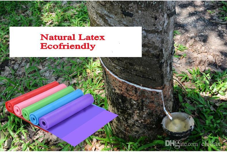 Nuevo Yoga Bandas de resistencia 1.5 m Tensión natural Salud Ejercicio elástico Deporte Látex Estiramiento Cinturón Tire de la correa