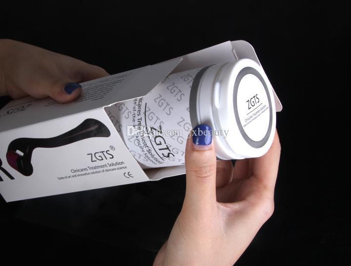 ZGTS derma roller 540 aiguilles skin dermaroller en titane pour rajeunissement anti-âge DHL gratuit
