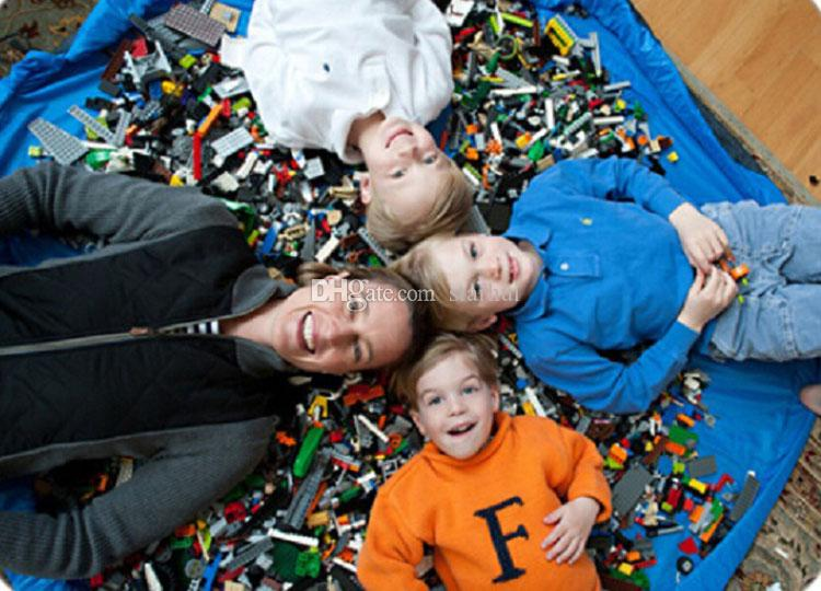 Sacos de Armazenamento Esteira do jogo Do Bebê Brinquedos de Luxo organizador Jogando Tapetes Portátil Cobertor Tapetes Organizador Organizador Presente de Natal WX-T96