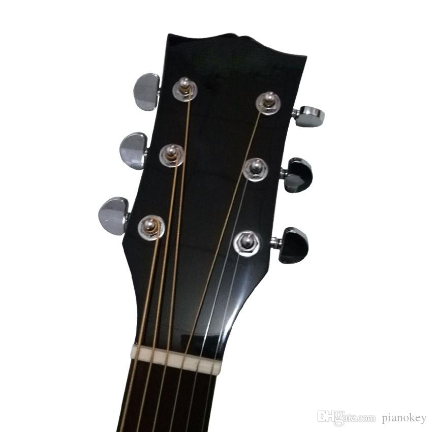 Wholesale handcrafted OEM 41 inch j45 acoustic electric guitar,solid spruce top, China made guitars