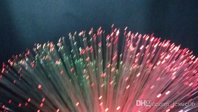 Decoraciones para fiestas Lámpara de Fibra Óptica Luz de Boda Fiesta Centro de Mesa de Fibra Óptica LED Festivo Suministros de decoración de Navidad regalo