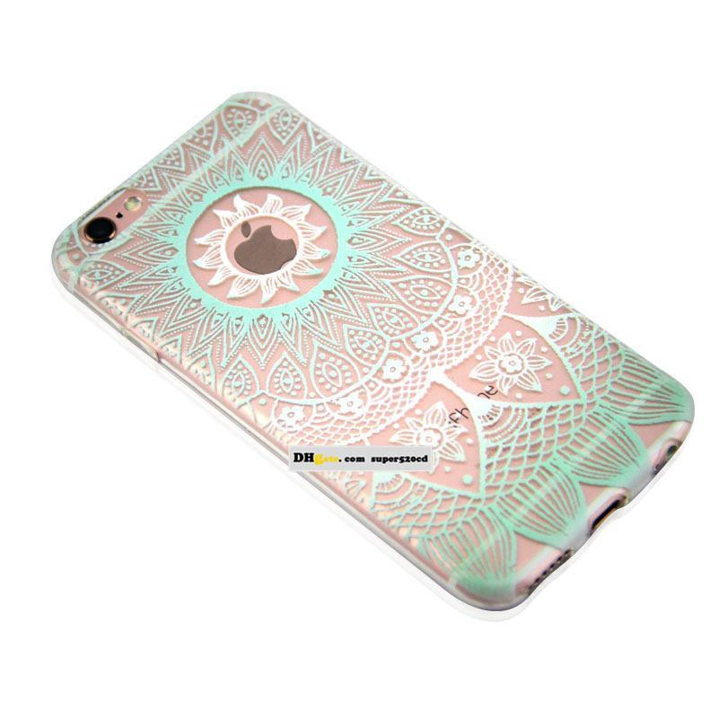 Coloured drawing or pattern is hollow-out mandala fengling following Mobile Cell Phone Cases for iphone4/4s 5/5c/5s 6 iphone 7 7plus TPU