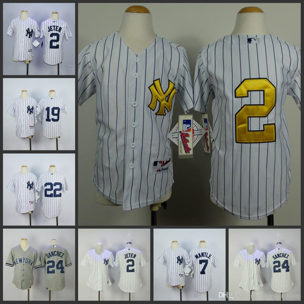 418acdee9 ... fashion jerseys; gray kids jersey kids new york yankees jersey 2 derek  jeter 19 masahiro womens new york
