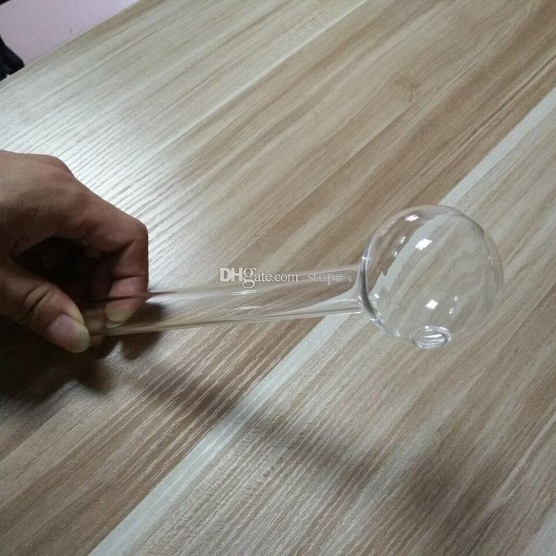 Горячие продажи стекла масляной трубы 8 дюймов большой трубы масляной горелки стеклянная трубка масляной трубы ногтей толстые ясно бесплатная доставка