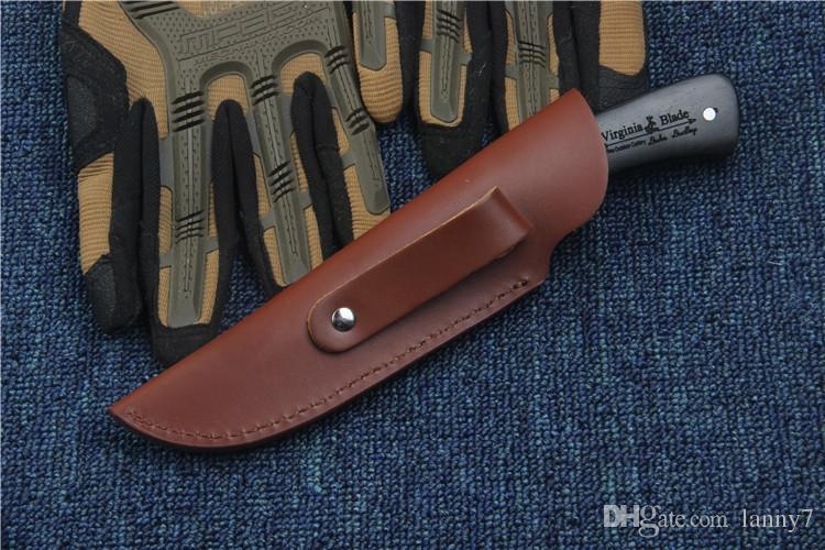 Специальное Предложение Новый Охотничий Нож Выживания Высокоуглеродистой Стали Лезвие Открытый Отдых Туризм Выживания Ножи с Фиксированным Лезвием С Кожаной Ножной