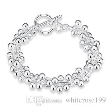 Commercio all'ingrosso - regalo di Natale al prezzo più basso al dettaglio, spedizione gratuita, nuovo 925 argento moda Bracelety B019