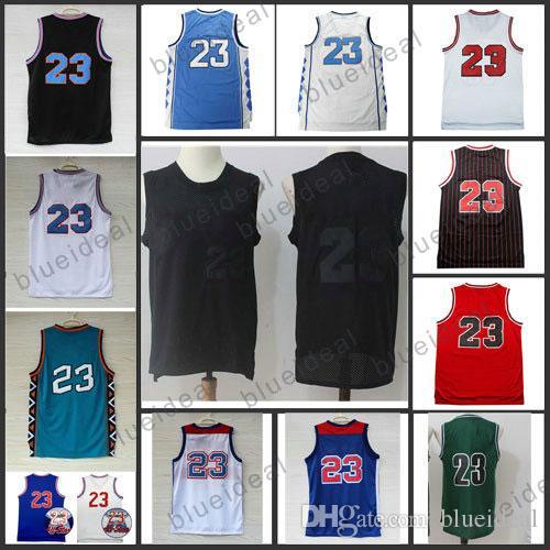 2018 wholesale retro mesh basketball jerseys black uniforms cheap space jam 23 all star shirt basket