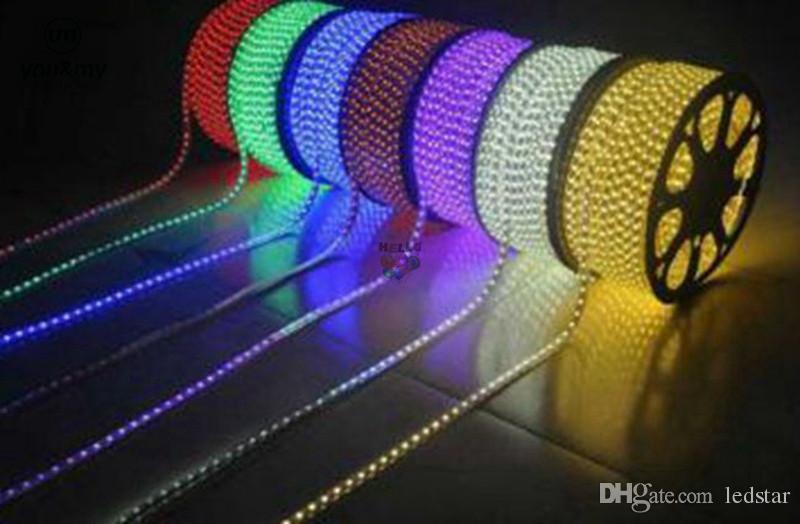 100 메터 110 볼트 220 볼트 Led 스트립 smd 2835 LED 로프 빛 IP67 플렉스 LED 스트립 조명 야외 조명 문자열 디스코 바 펍 크리스마스 파티
