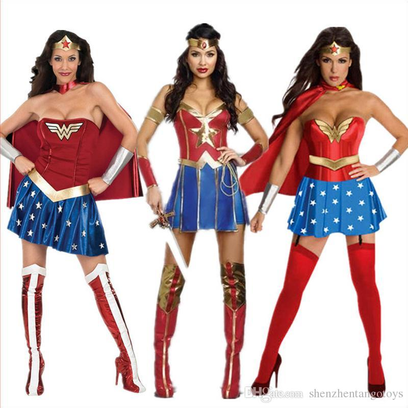 Best Womenu0027S Halloween Costumes Wonder Woman 3 Roles Leather Corset Adult Woman Costume For Halloween And Cosplay Party Under $19.35 | Dhgate.Com  sc 1 st  DHgate.com & Best Womenu0027S Halloween Costumes Wonder Woman 3 Roles Leather Corset ...
