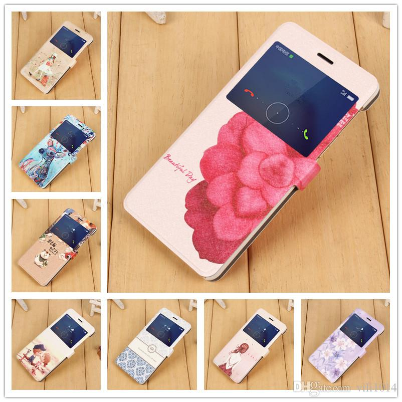 huawei cell phone cases. cool honor 6x case cute painting landscape magnetic pu leather flip cover for huawei phone cases gr5 2017 customized cell
