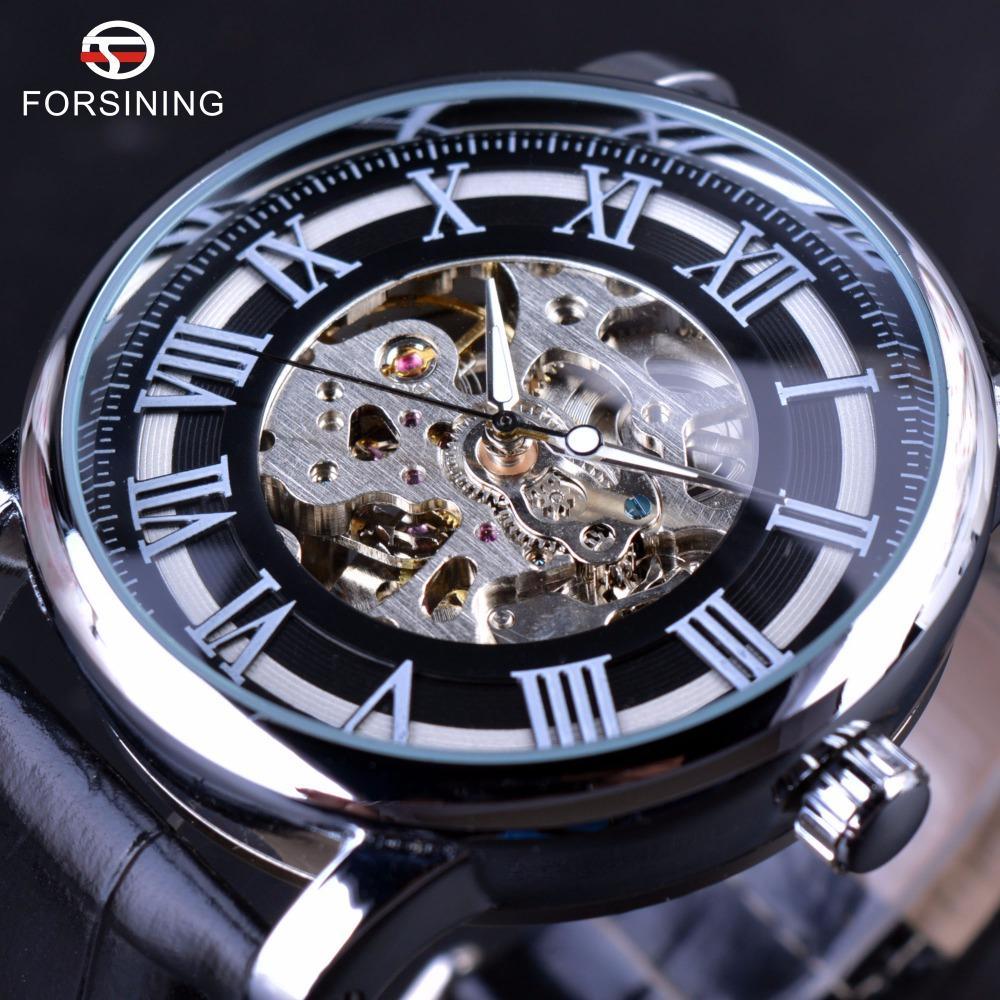 f642d974a44 Compre Forsining Número Romano Design Clássico Caso Transparente Homens  Relógios Top Marca De Luxo Esqueleto Mecânico Relógio Homens Relógio De  Caseyzhang92 ...