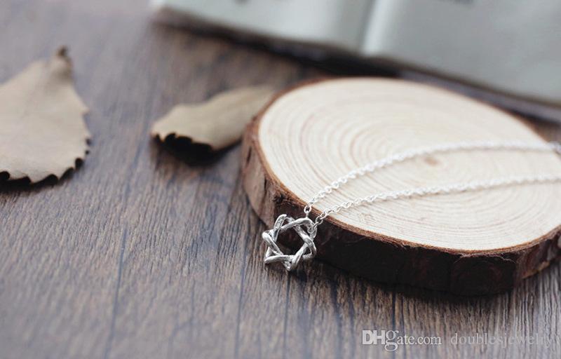 Moda plata simple hueco de seis estrellas BRACELET DAMAS estrellas del todo fósforo accesorios de la joyería al por mayor
