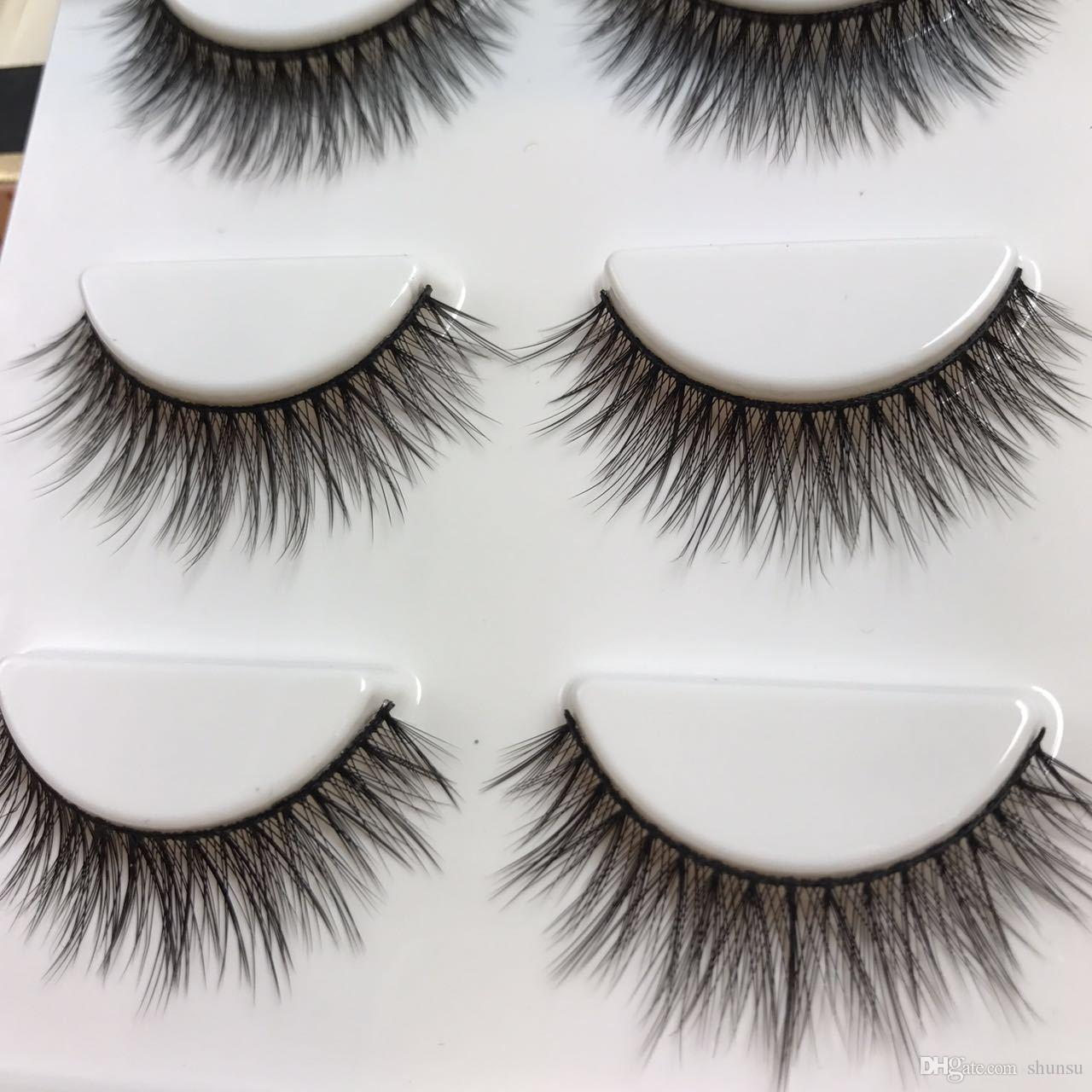 Cotton Stems 3D Stereo False Eyelashes Nature Long Crisscross Messy Dense Eye Lashes Winged Party Smoke Makeup Fake Eyelashes