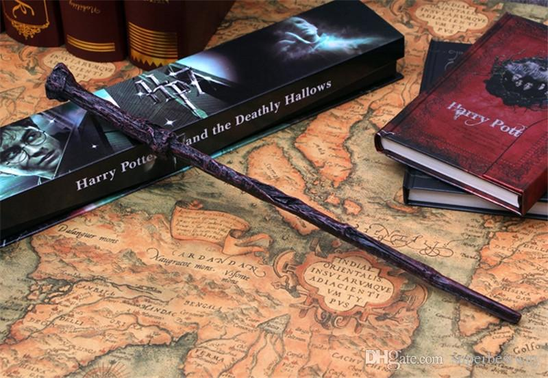 harry potter Magical Wand dumbledore Hogwarts wand cosplay wands Hermione Voldemort Magic Wand In Gift Box 36cm 18 design OTH057