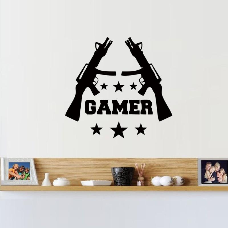 Gamer Wall Stickers Games Room Video Game Gun Play Vinyl Decal Best  Decoration Art Culture Mural Wall Stickers Home Wall Stickers Home Decor  From Xymy757, ... Part 60
