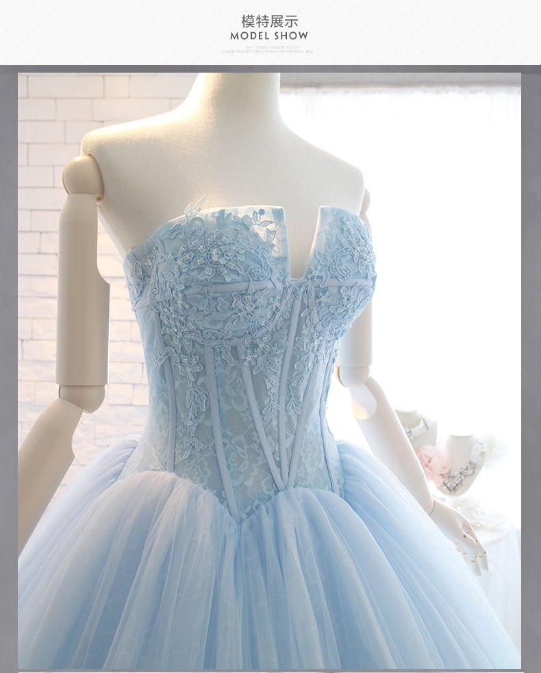 Blue Love 2017 Bride Wedding Dress Color Dress Skirt Bra Wedding ...
