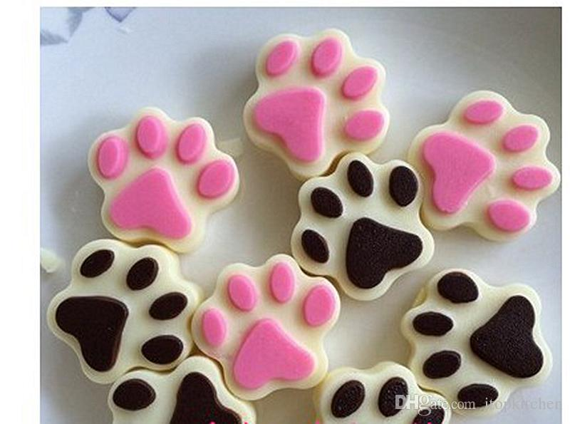 ! ITOP DIY Cookie Cat Dog Paw Print Animal Silicone Chocolate Ice Soap Mold Pudding jelly mould