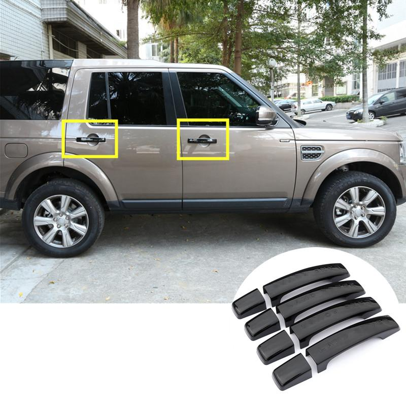 Black Car Door Handle Cover Trim For Land Rover Lr4