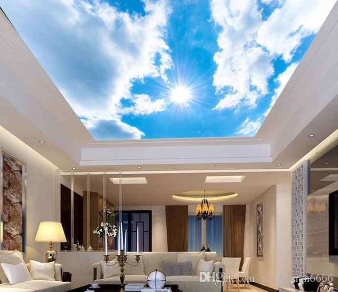 3D سقف خلفية لغرفة النوم جدران 3D خلفية مخصصة للأسقف Peach Blossom Pigeon جميلة خلفيات سقف 3D لغرفة المعيشة