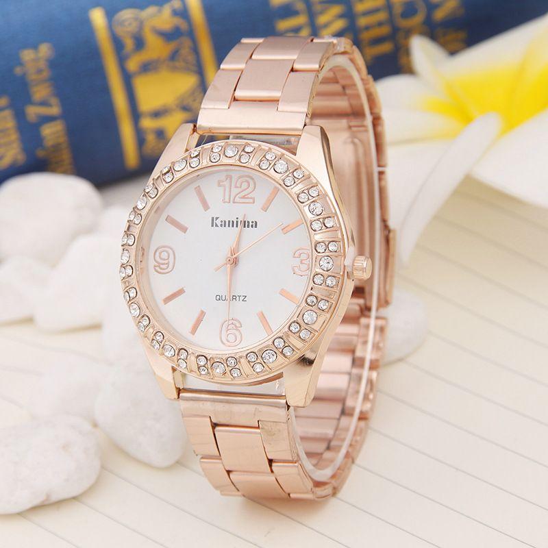 Hot 2017 New women Quartz Wrist Watch girls fashion Diamond Watch ...