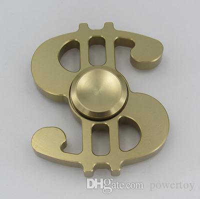 Mano Spinner modello dollaro spirale Tempo di rotazione lungo Giocattolo divertente in lega di alluminio Metallo EDC Fidget Spinner bambini Adulti Giocattoli anti-stress
