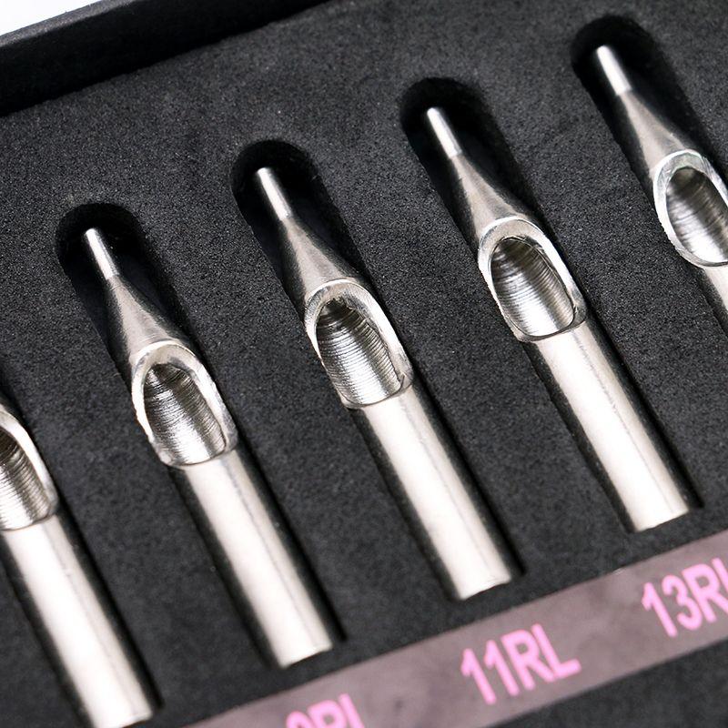 Punte dell'ugello del tatuaggio dell'acciaio inossidabile la scatola di kit del tubo degli aghi della mitragliatrice Nuovo ShippingTG3121 libero