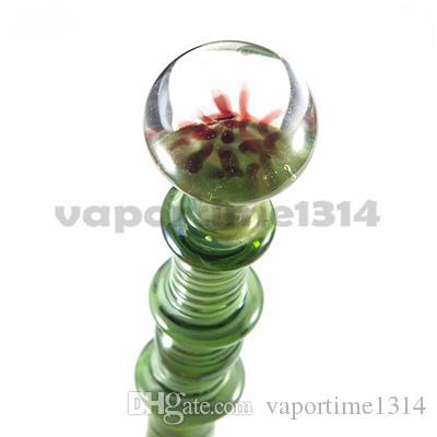 Estilo Moda Cap Carb vidro Dabber vidro Bacia da flor fumadores Dabble Ferramenta Para Domeless Quartz Banger prego Cig Dab Rig 571
