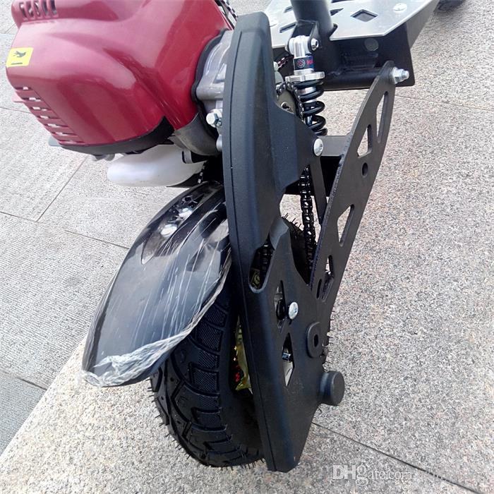 X7 dört zamanlı 49CC katlanır pedal yakıt yükseltici benzinli scooter seyahat mini mini motosiklet DHL ücretsiz gönderim