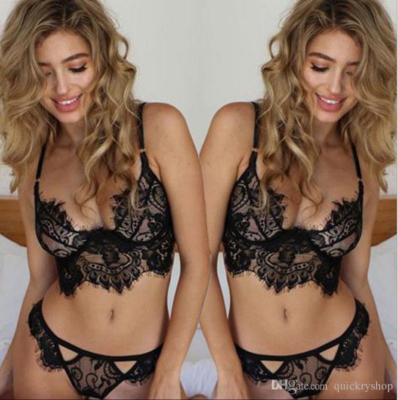 2017 nouvelle vente chaude femmes vêtements de nuit creux sous-vêtements translucides Frenum Strap Lingerie lingerie sexy ensemble