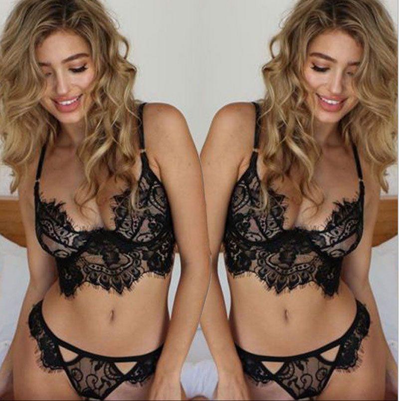 2017 Yeni Sıcak satış Kadınlar Pijama Hollow Saydam İç Frenum Askı Lingerie sexy lingerie set