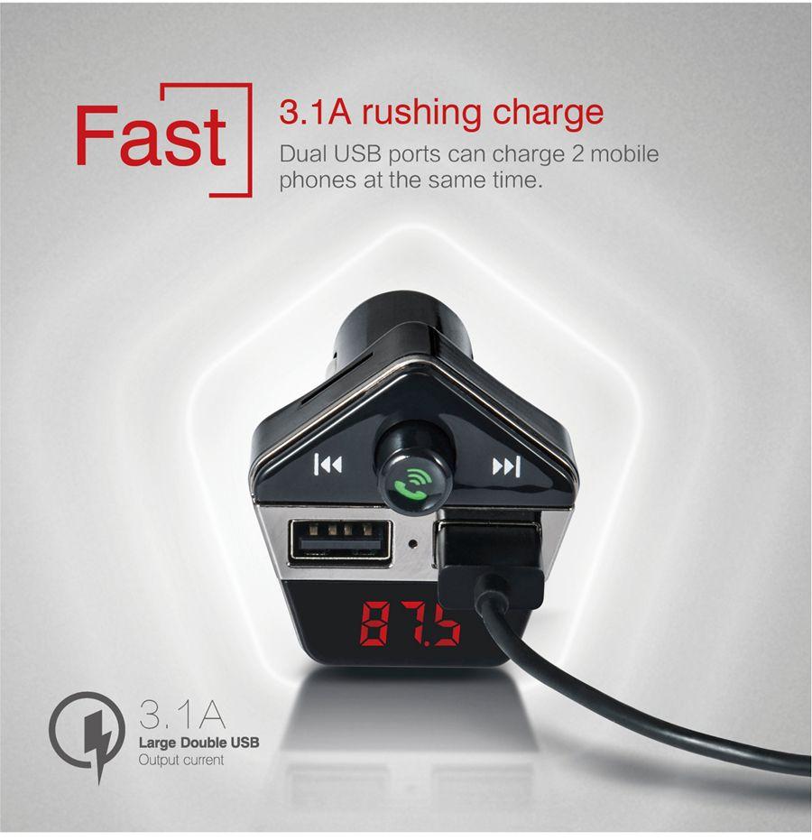 ST-06 Display LCD auto mani libere Bluetooth MP3 Audio Player FM Transmitter modulatore FM caricabatteria da auto iPhone Samsung XiaomiMore