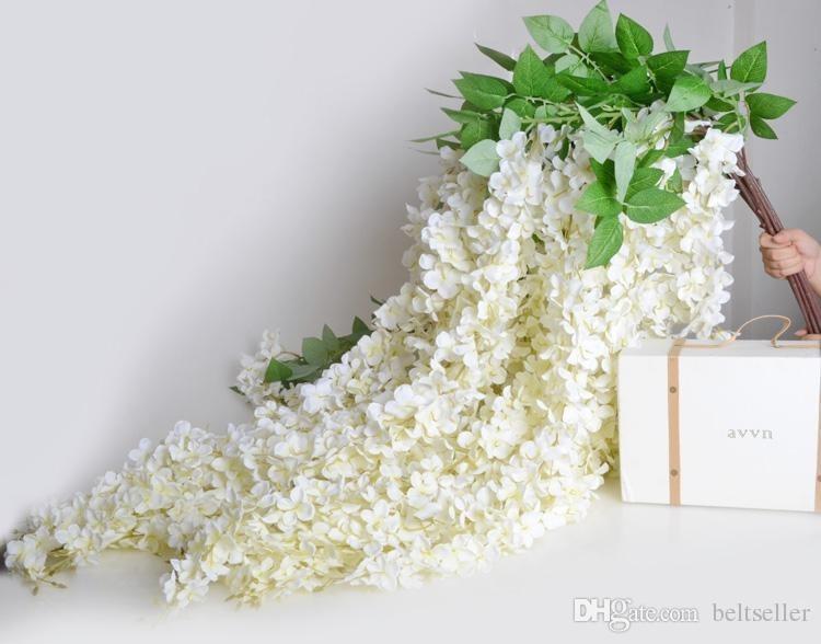 1.6 Metre Uzun Zarif Yapay İpek Çiçek Wisteria Vine Rattan Düğün Centerpieces Süslemeleri Buket Garland Ev Süsleme