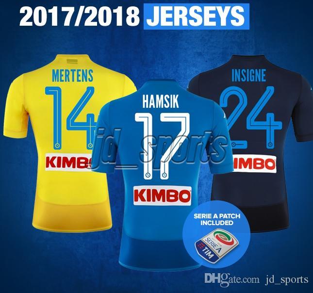 c4a348da3e5de 2019 2017 18 SSC Napoli Futbol Camisa Naples Mertens Insigne Hamsik  Callejón Soccer Jersey Football Camiseta Shirt Kit Maillot Serie A From  Jd sports