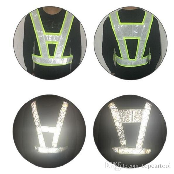 Tct 1 قطعة ملابس عاكسة سلامة الأزياء نيون الجير الأصفر عاكس الصدرية v الملابس وضوح عالية حزام الأمان