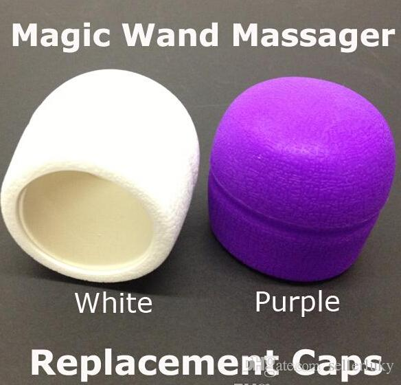 Magic Wand Massager Replacement Caps Head for 10 speed Magic Wands Vibrator Adam Eve Head/Caps Attachment by DHL