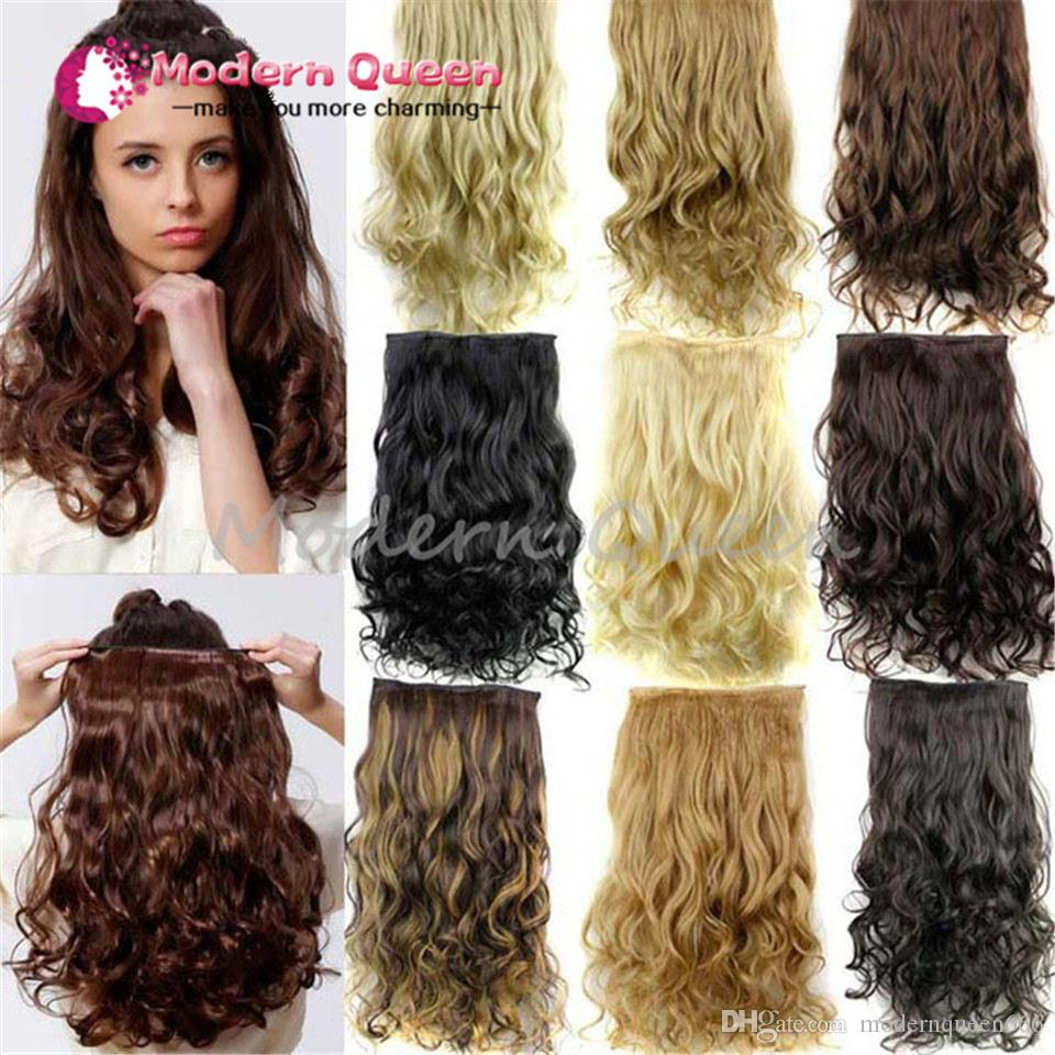 24 120g Clip In Hair Extensions Hairpiece Curly Wavy Hair