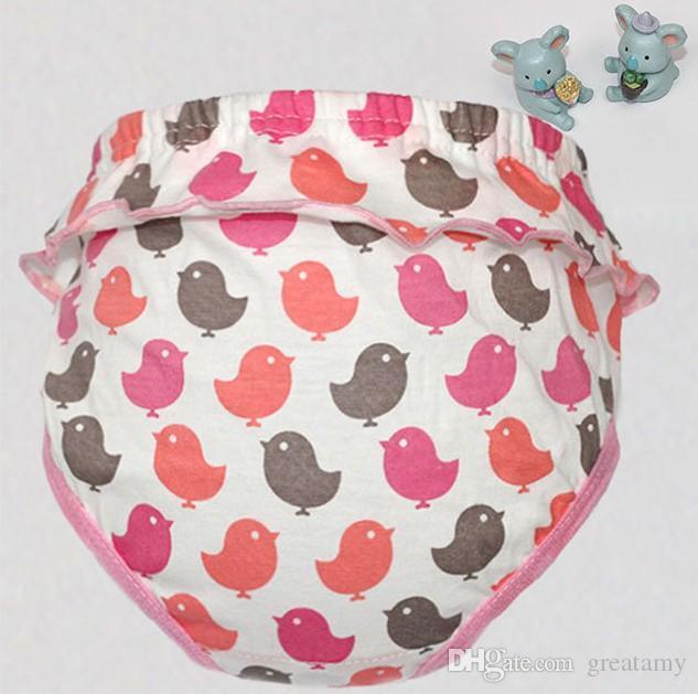 Crianças calcinha listrada ponto pássaro bowknot dos desenhos animados crianças lacework calções cueca meninos grandes meninas cuecas calcinha breve crianças bonito underp algodão