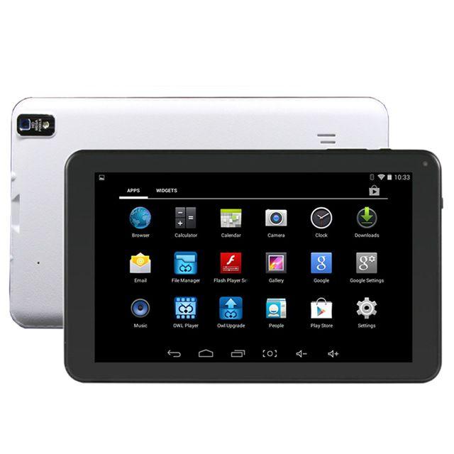 A33 Dört Çekirdekli Tablet 9 inç Allwinner A33 Tablet 8 GB Çift Kamera WiFi OTG Ile Bluetooth el feneri arka kamera DHL Ücretsiz