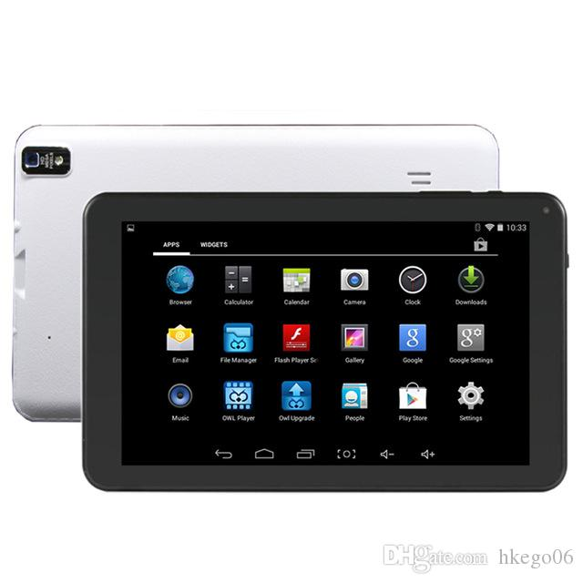 A33 Quad Core Tablet 9 inch Allwinner A33 Tablet 8GB With Dual Camera WiFi OTG Bluetooth flashlight back camera DHL Free