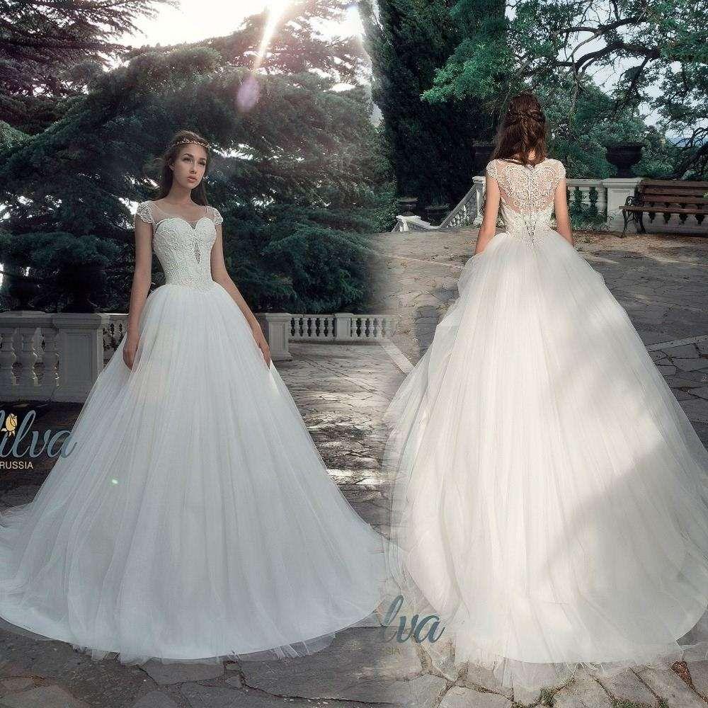 Big Ball Gown Short Sleeve 2017 Wedding Dresses Princess Vestidos De ...