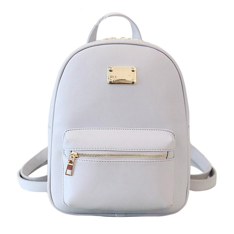 Women Backpack Small Size Black PU Leather Women s Backpacks Fashion School  Girls Bags Female Back Pack Famous Brand Mochilas Leather Backpack Backpacks  ... 09df382f50320