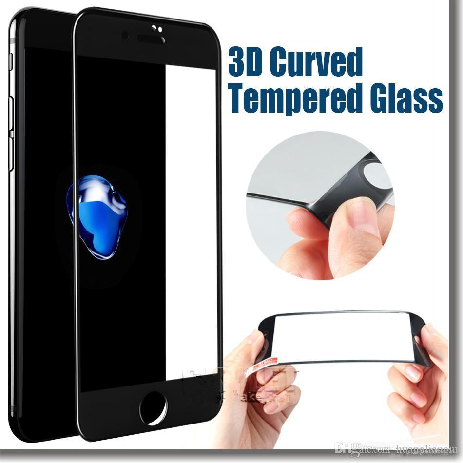 92b5805aeba Descargar Protector De Pantalla Gratis Protector De Pantalla Para IPhone 6S  Plus IPhone 7 3D Vidrio Templado Curvado 9H Dureza A Prueba De Explosiones  Para ...