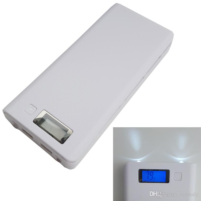 DIY 18650 power bank box battery case external charger 8x18650 high capacity power bank for cellphones tablet with LCD