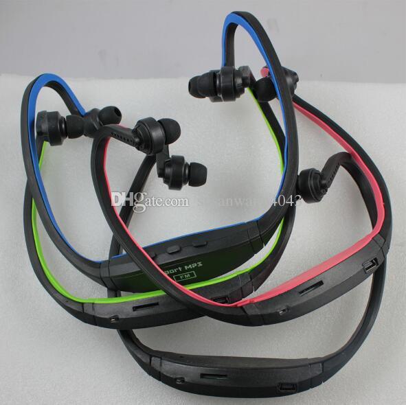 Portable Wireless sport mp3 player In Ear Headphone Earphones Headset Handsfree neck MP3 Player Support SD TF Card FM Radio USZ067
