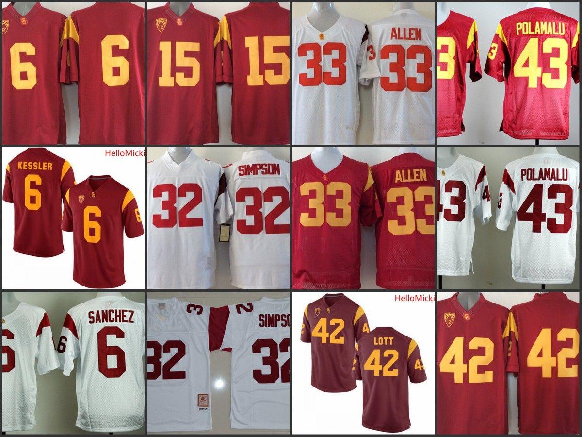 e410aa5218f ... australia 2017 mens usc trojans o.j. simpson college football jerseys  42 ronnie lott 33 marcus allen