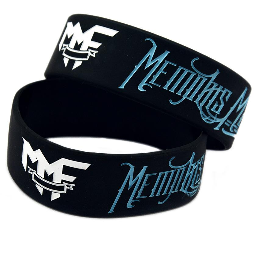 1 Inch Wide Memphis May Fire Silicone Bracelet Rock Style Band For Music Fans Gift