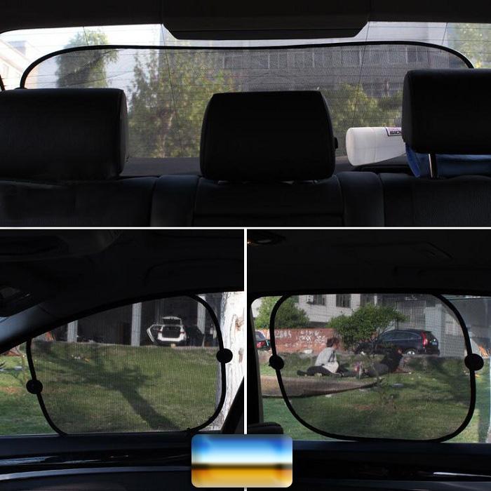 Black Car Window Sunshade Mesh Curtain Visor Shield Cover Side Window  Windshield Interior Product With Sucker Foldable Shade For Car Window Shade  For Cars ... 327c7c0ae6b