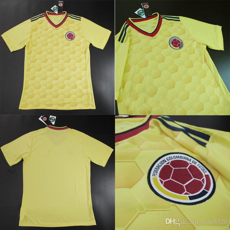 095fc64bd ... 2017 Colombia Home Yellow Soccer Jersey 2017 10 James Soccer Shirt 1718  Colombia Customized Football Uniform ...